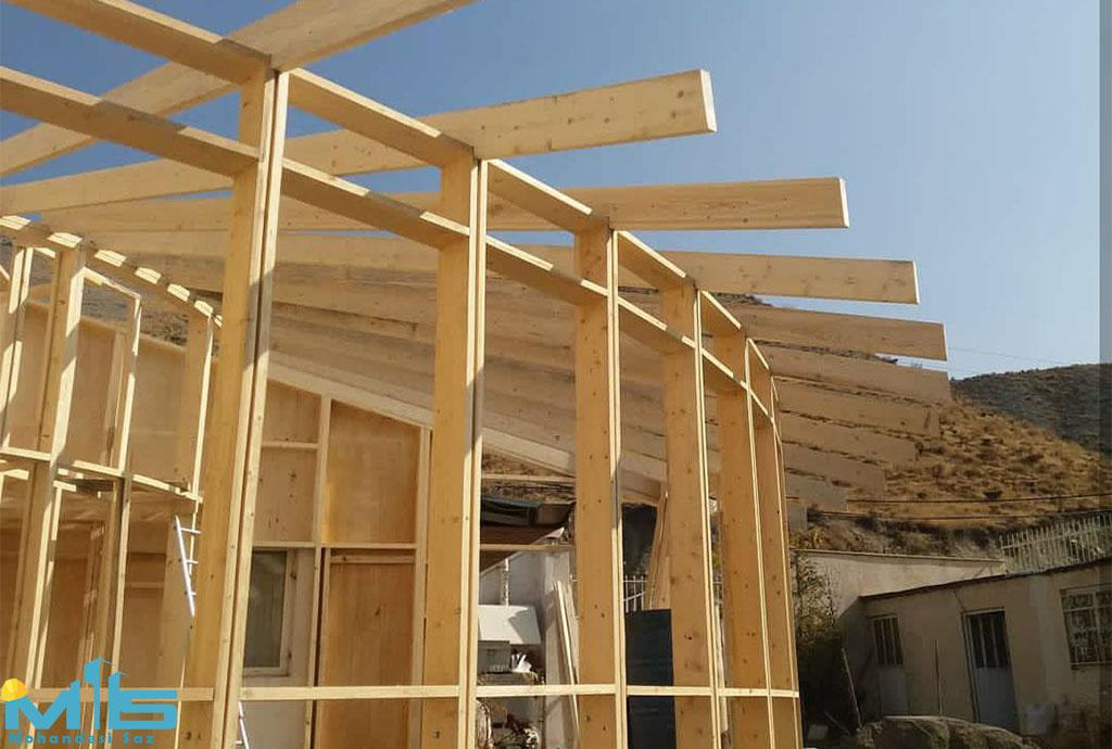 ساخت کلبه ی چوبی