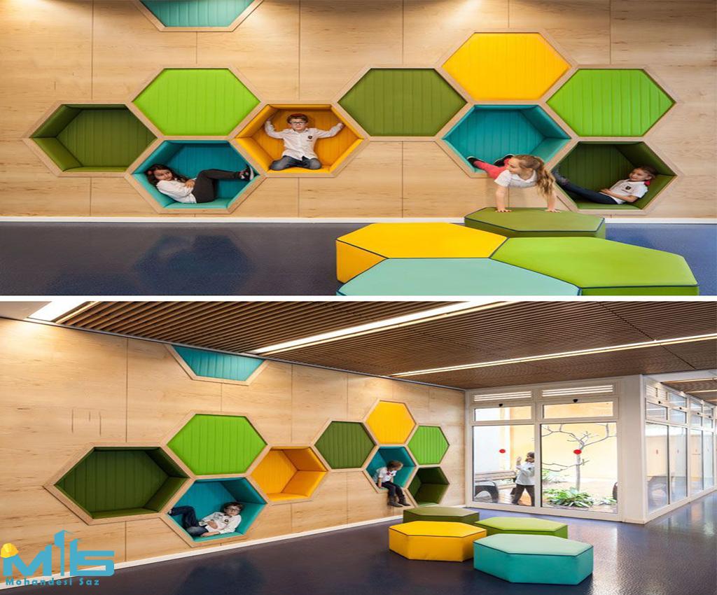 طراحی داخلی خلاقانه برای مهد کودک