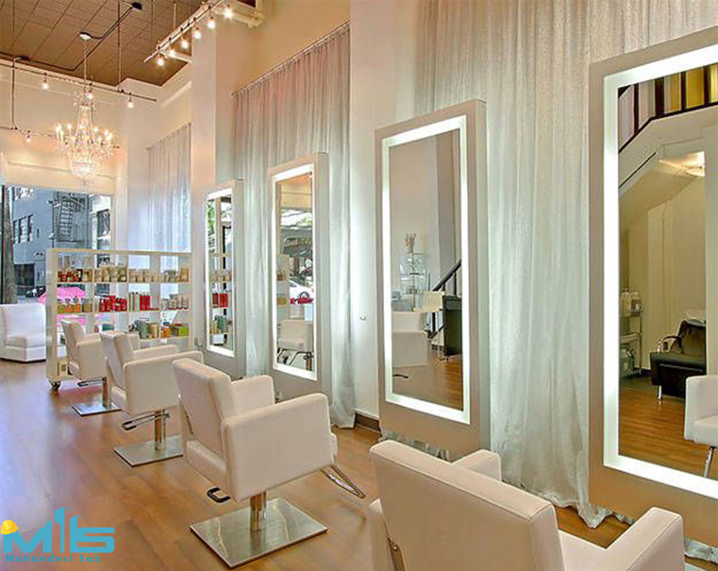 طراحی داخلی آرایشگاه بانوان