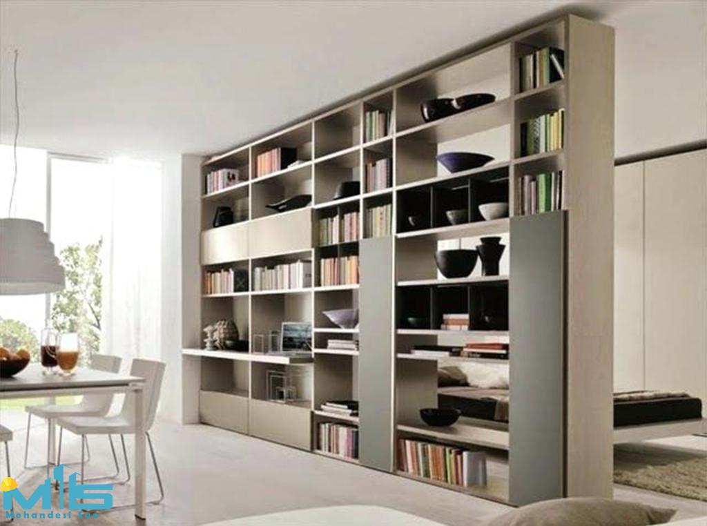 طراحی داخلی کتابخانه شخصی و عمومی