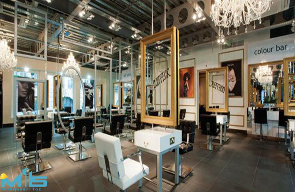 طراحی داخلی لوکس آرایشگاه زنانه