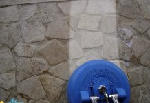 تمیز کاری سنگ دیوار و کف