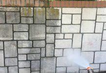 شستشوی سنگ دیوار