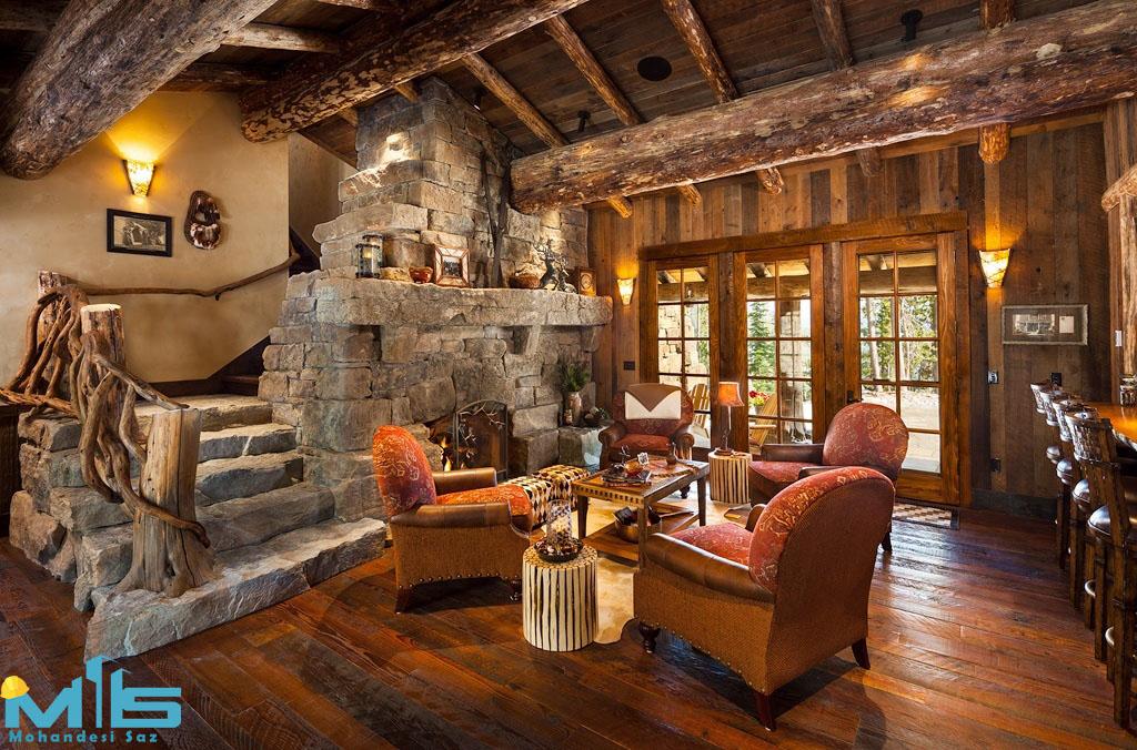 طراحی داخلی با چوب