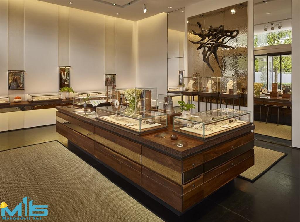 دکوراسیون داخلی جواهر فروشی
