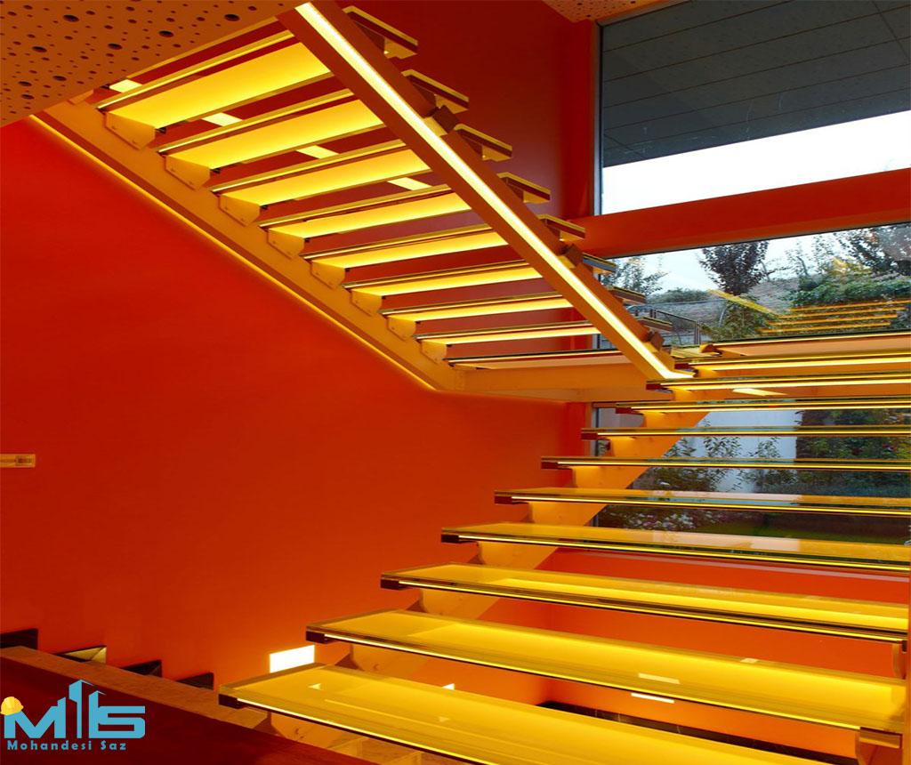 انتخاب رنگ پله ها